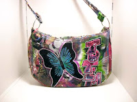 Butterfly Graffiti Totem purse back