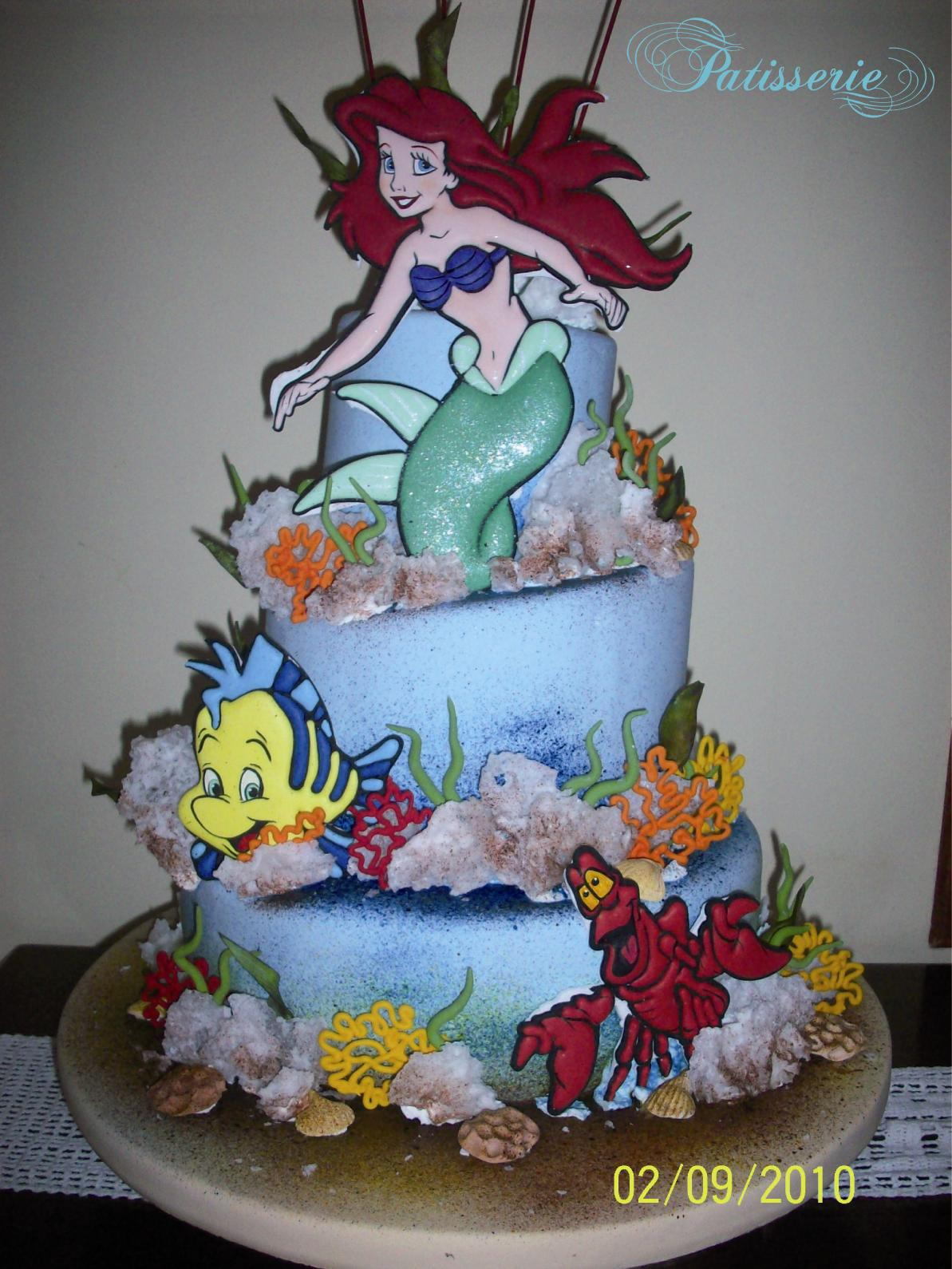 La Sirenita (Torta de Cumpleaños)