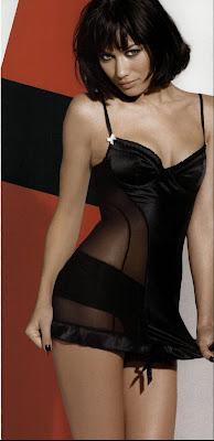 Olga kurylenko in black lingerie