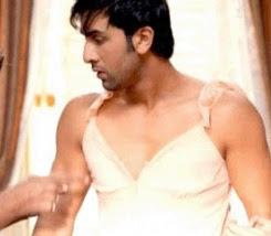 Ranbir Kapoor in women lingerie