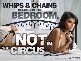 Sherlyn Chopra peta ad