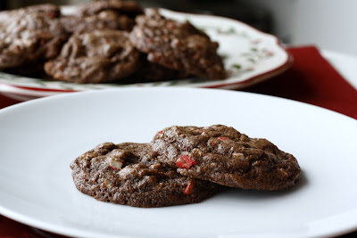 Peppermint Fudge Cookies
