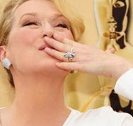 Meryl Streep in Chris March at the Oscars