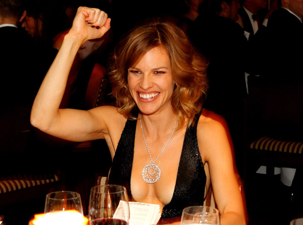 hilary swank 2010. actress Hilary Swank and