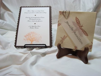 Copper accent Invitation and Placecard
