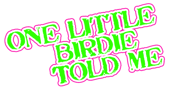 one little birdie told me