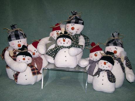Елки снеговики своими руками