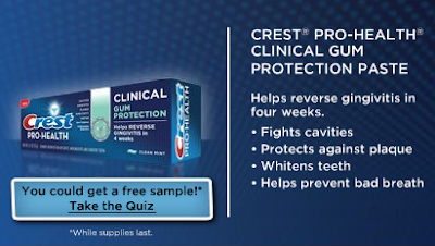 Free Sample of Crest Pro Health Clinical Gum Protection (Walmart)