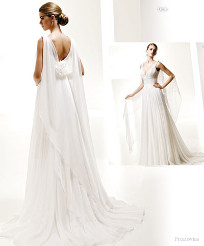 GRECIAN GODDESS WEDDING DRESS