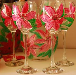 Peinture sur verre by vaonala - Peindre des verres a pied ...