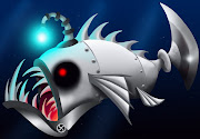 A drawing of a Robot Angler Fish I'm doing for my short film, I will explain .