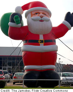 Christmas car dealership