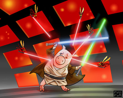 jedi pig by fossfor