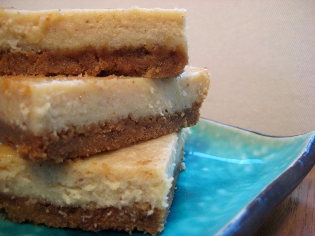 "Eggnog ""Cheesecake"" Squares (Dairy- and Gluten-Free)"
