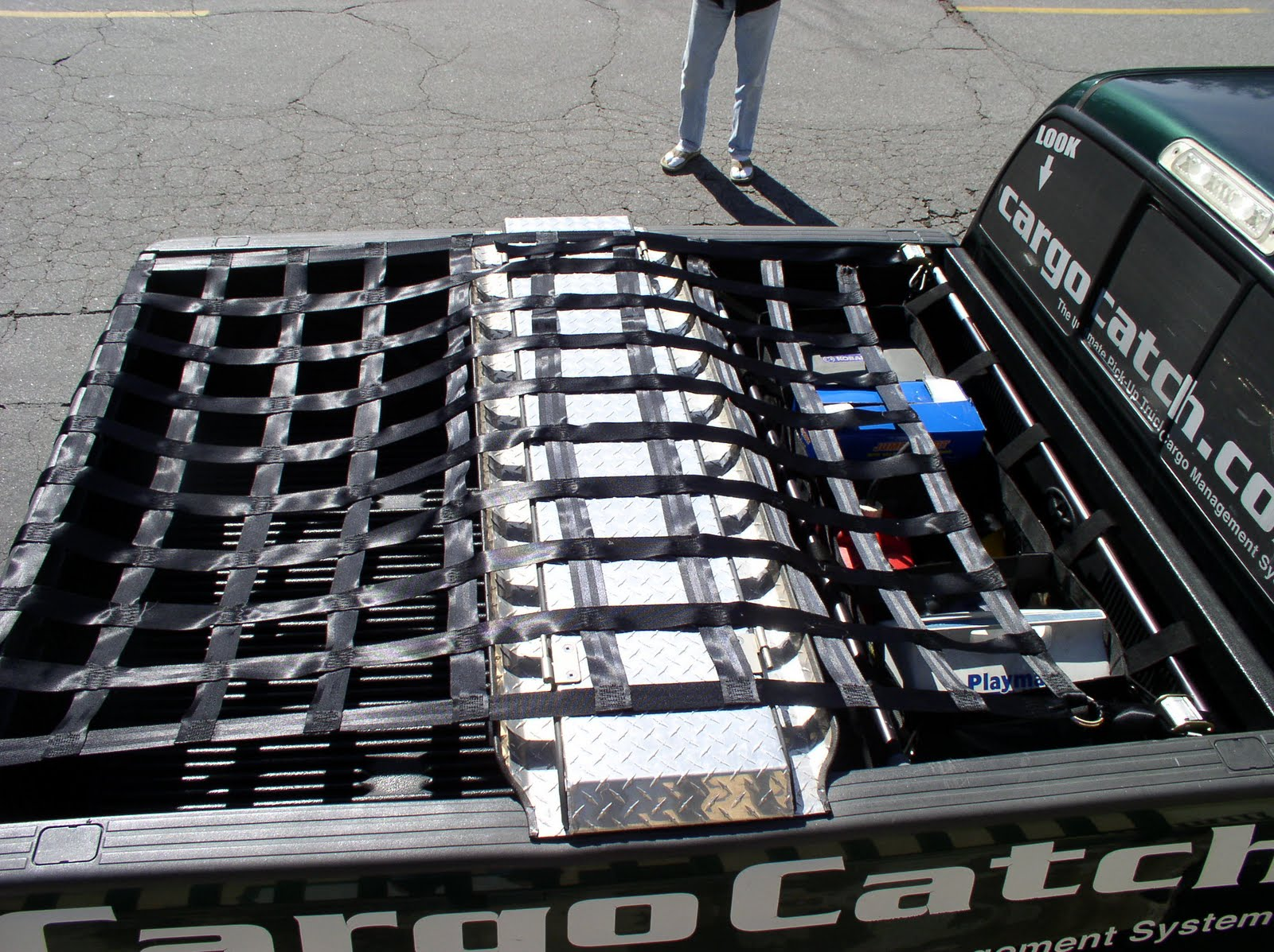 The strongest long bed pickup truck cargo net in the world made in the usa
