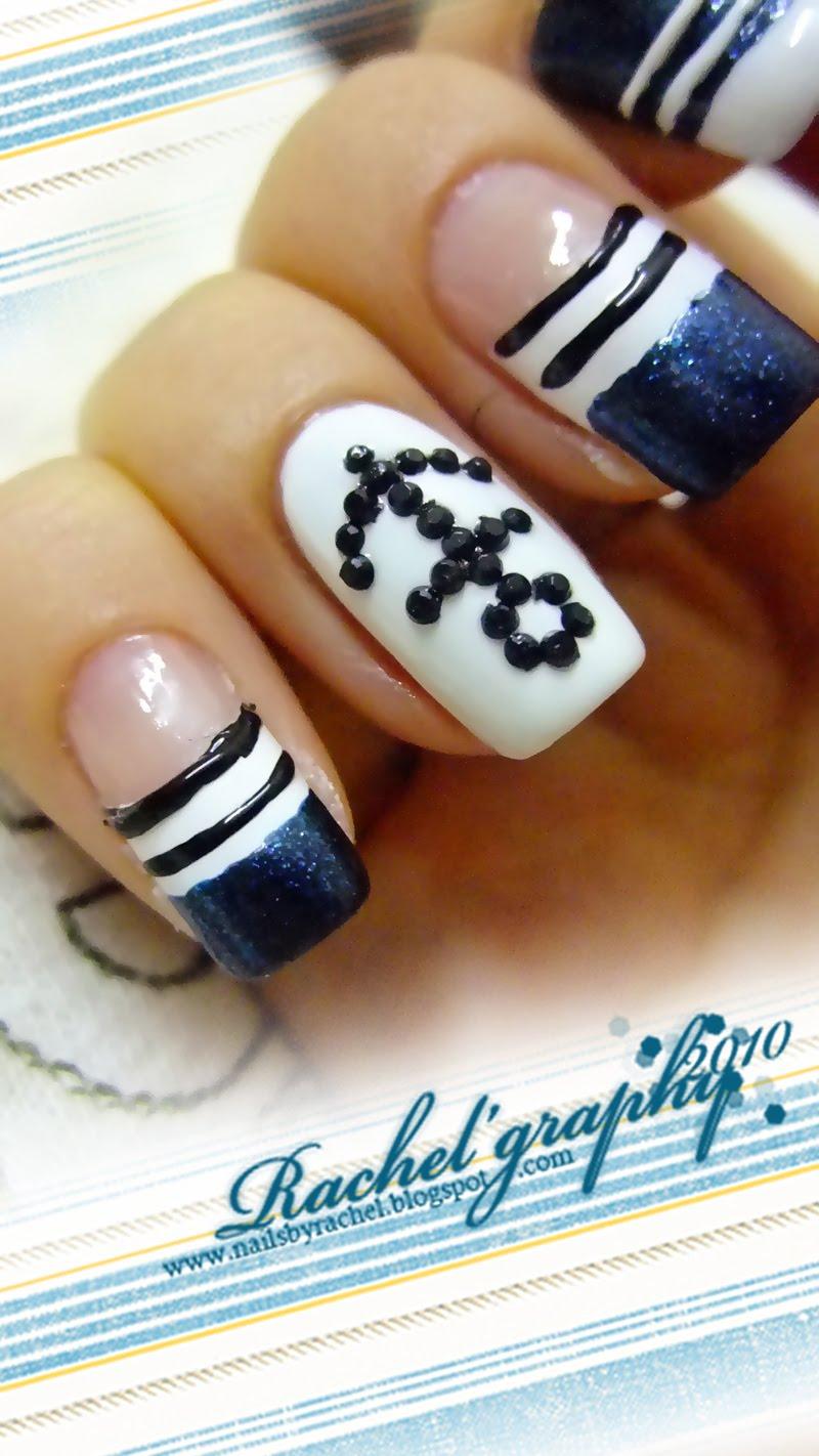 Как нарисовать якорь на ногтях фото