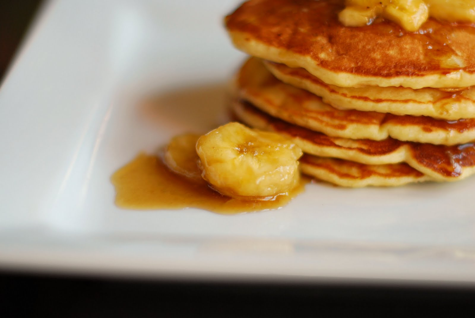 Sassafras Cafe: Banana Pancakes with Caramel-Banana Syrup