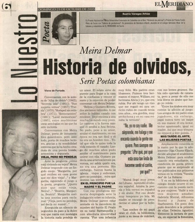 Meyra Delmar: Historia de olvidos, ausencias y recuerdos