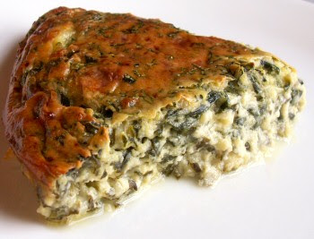 ... crustless cheese and spinach pie it s light easy to make and is