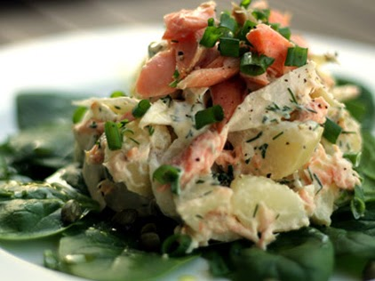 Scrumpdillyicious Smoked Trout And New Potato Salad
