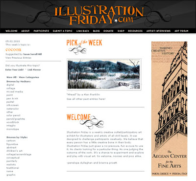 illustration friday is a weekly creative outlet/participatory art exhibit for illustrators and artists of all skill levels.