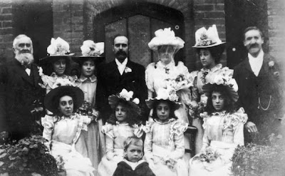 Wedding Party on Victorian Wedding Party Surround The Newly Married Bride And