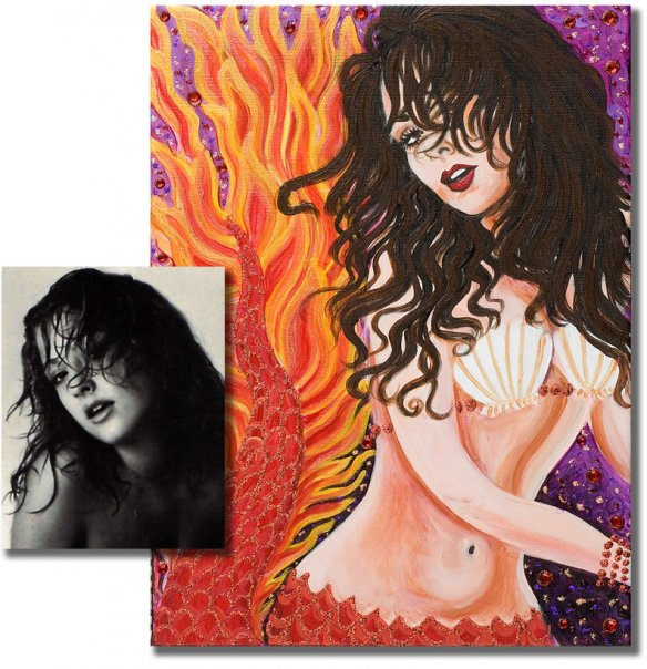 Fire Mermaid Portrait