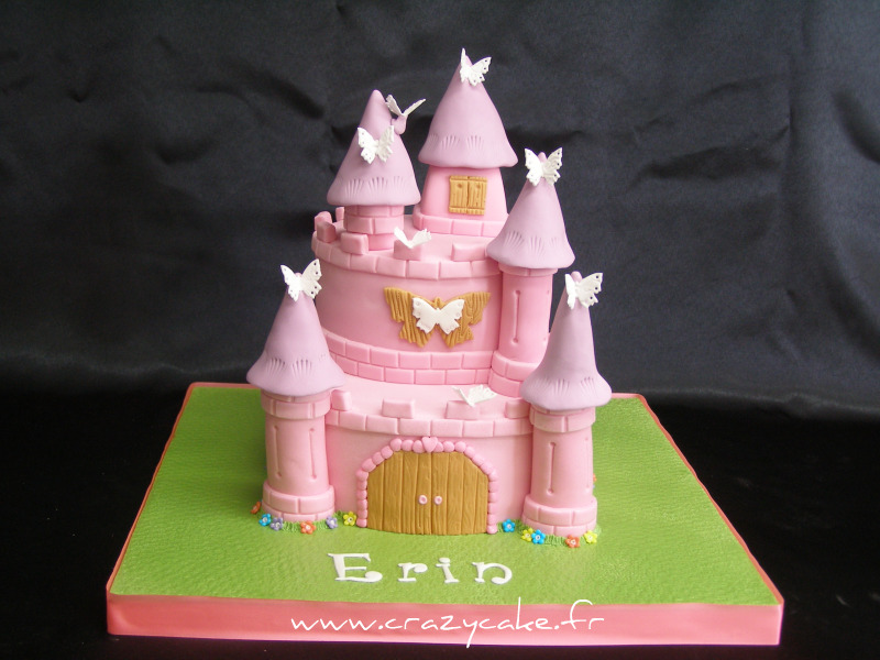 Gateau chateau rose