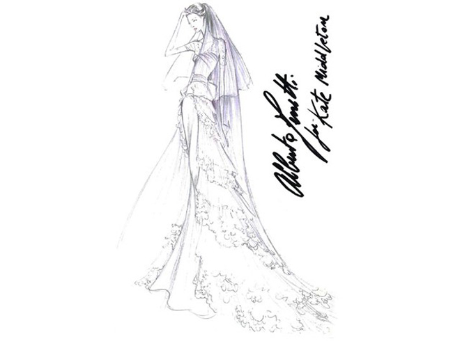 kate wedding dress sketches. Kate#39;s Wedding Dress Sketches