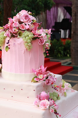 Pink Wedding Cake Photos