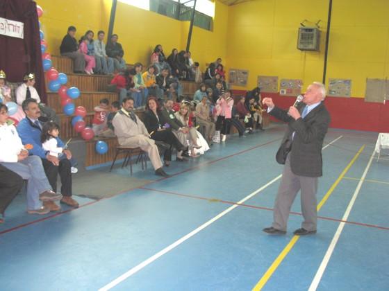 Alcalde Sr. Mario Margoni despide el Campamento