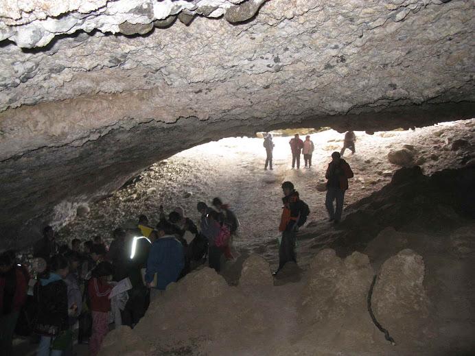 Interior de la CUEVA CHICA