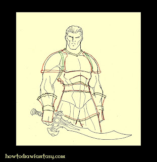 How to draw a warrior armour.