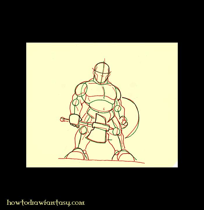 How to Draw a Dwarf Warrior