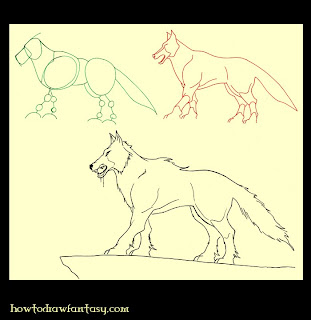 Learn how to draw a dire wolf