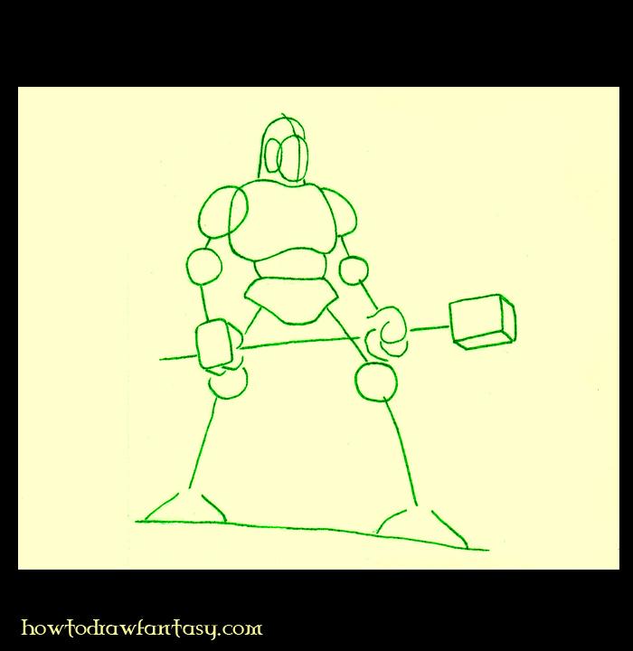 comment dessiner un guerrier