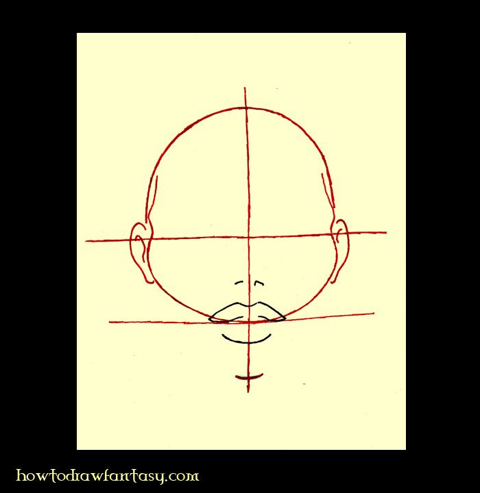Cómo dibujar un rostro de mujer Paso 3
