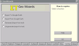 GeoWizards 9.7 Import or Export to Google Earth (KML)