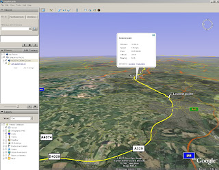 N82 Sports Tracker Beta in Google Earth