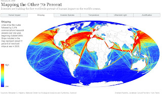 NYT Shipping Impact Map