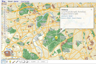 Ask Map Richmond Park Speed Classifications