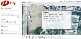 Ask Maps Reverse Address Geocoding Result