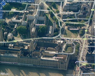 Virtual Earth 6.1 London Birds Eye View with Labels