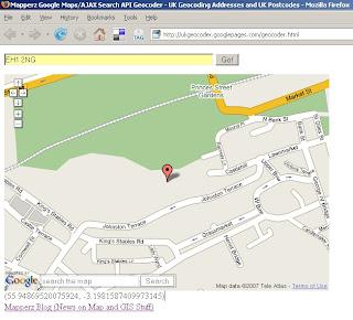 UK Geocoder Postcode - EH1 2NG