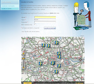 Kwik fit 192.com flash map