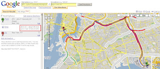 Google Maps directions plus adjusted traffic times