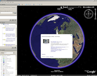 Yahoo Pipe Map KML - Google Earth