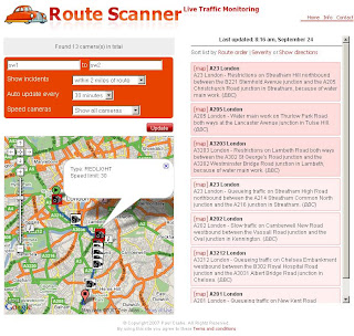 Route Scanner created Paul Clark