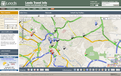 Leeds Travel Information Map