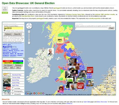 UK Election Geo.me tweets map